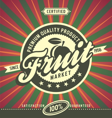 ailment: Fruit market label design concept Illustration
