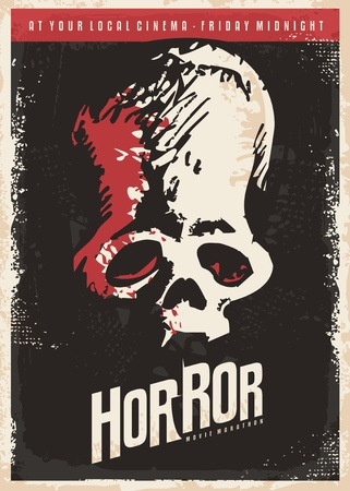 horror movies: Cinema poster design for horror movies