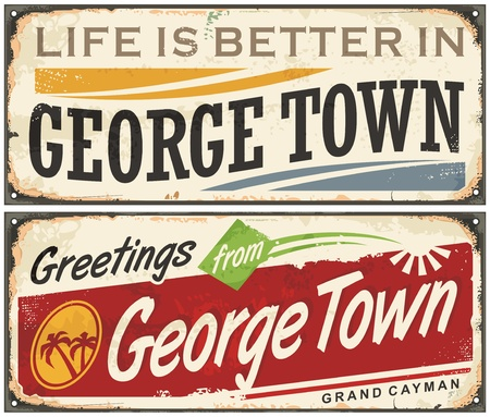 georgetown: Greetings from George Town Illustration
