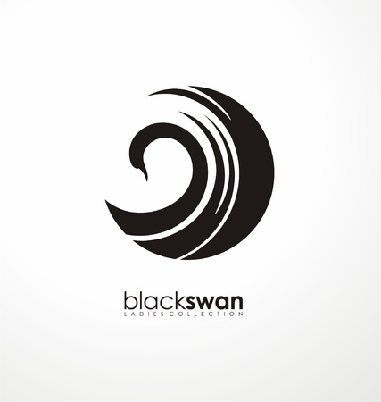 Swan logo made from abstract shapes