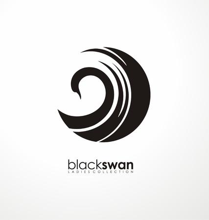 Zwaan-logo gemaakt van abstracte vormen