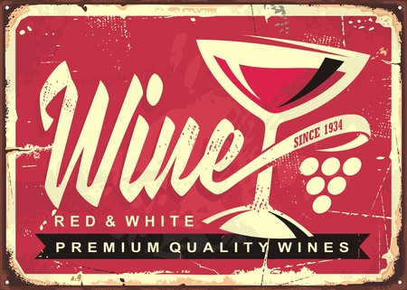 Wine cellar vintage tin sign