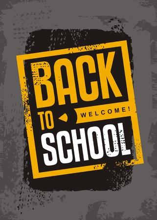 Back to school sale creative typographic banner design