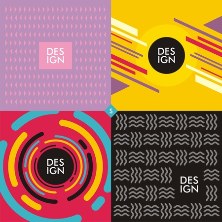 Backgrounds and textures, multi color concepts with trendy geometric shapes