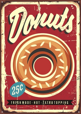 Donuts retro promotional sign.