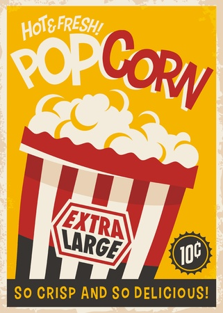Popcorn retro poster design template food and snacks vintage popcorn retro poster design template food and snacks vintage print layout stock vector maxwellsz