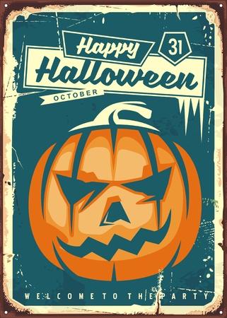 Happy Halloween retro sign.