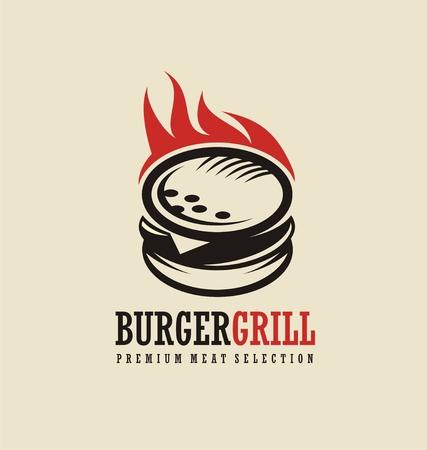Burger logo ontwerpidee