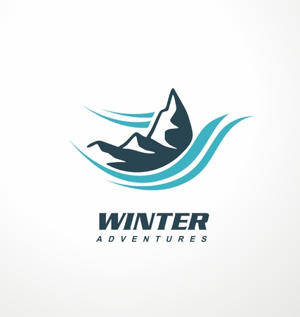 Mountain logo design idea Illustration