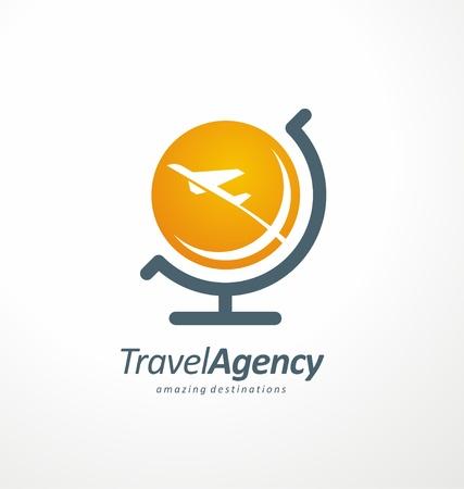 飛ぶし、シンボル デザインを旅行  イラスト・ベクター素材