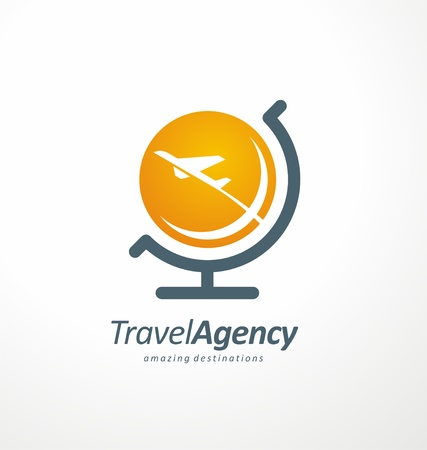 Fly and travel symbol design