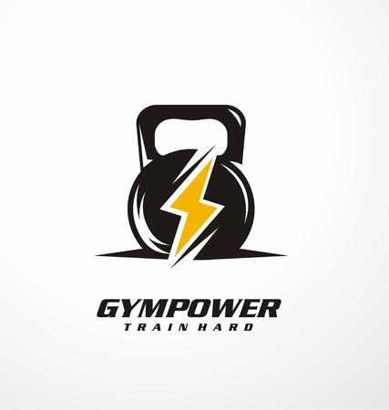 Logotipo de poder de diseño de la idea de gimnasio Foto de archivo - 88363056