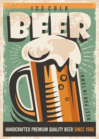 Bier retro posterontwerp