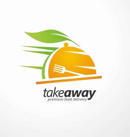 Take away food logo design idea