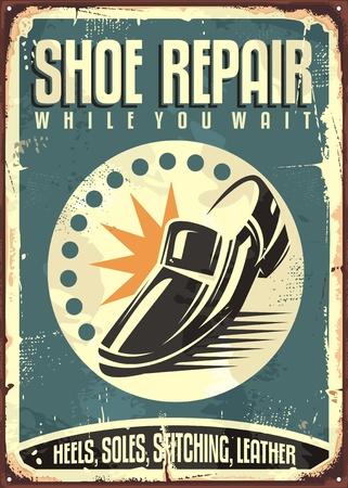 Shoes repair shop vintage sign