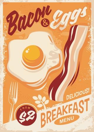 Spek en eieren ontbijtmenu