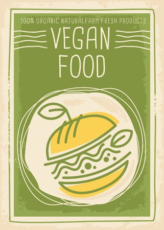 Vegan food promotional banner design