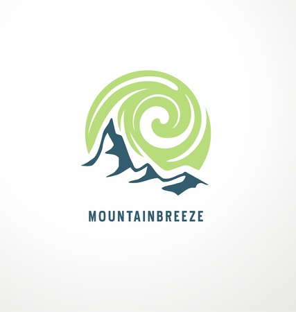 Mountain breeze symbol illustration