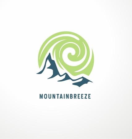 Mountain breeze symbol illustration