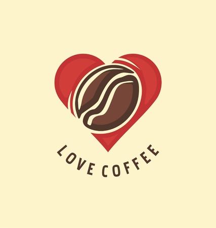 Love coffee creative vector image design for coffee lovers Illusztráció