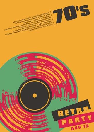 Projekt plakatu koncepcyjnego retro muzyka party