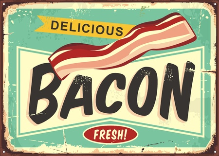 Delicious bacon retro sign