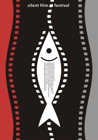 Silent film festival poster design Illustration