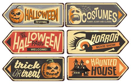 Halloween signs collection 矢量图像