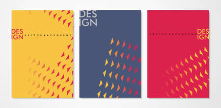 Contemporary design backgrounds set for notebook covers or business flyers. Abstraction art concept with triangles.