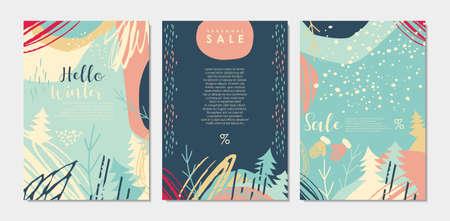Winter landscape pattern for sale promotion
