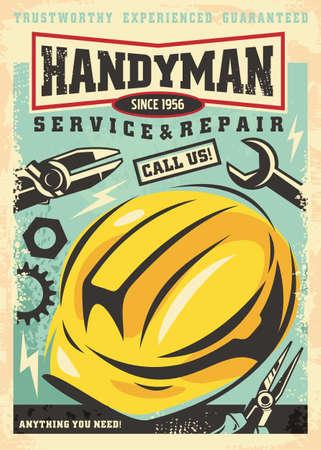 Handyman service and repair poster advertisement