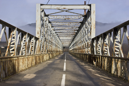 Old iron bridge photo