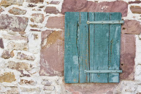 Wood shutter window photo