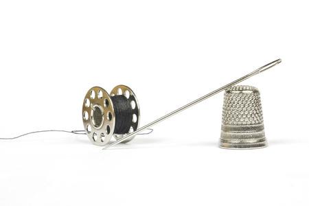 bespoke: Black thread and chrome needle