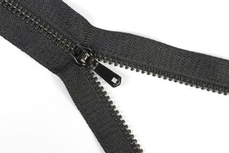fastening objects: Black zipper