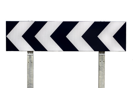 arrow sign: Direction traffic sign Stock Photo