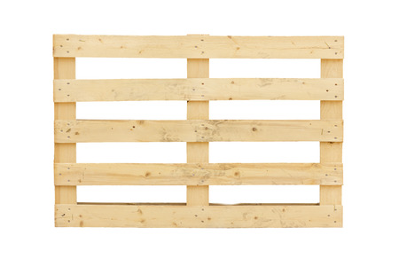 euro pallet: Isolated pallet over a white background Stock Photo