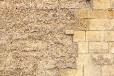 unfinished: Unfinished brick wall