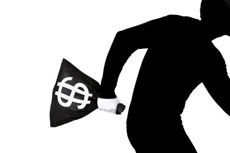 company secrets: White collar thief Stock Photo
