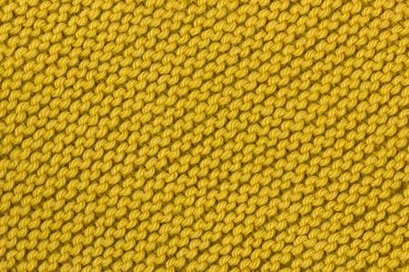 Yellow knitting texture