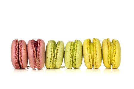 Line up macarons