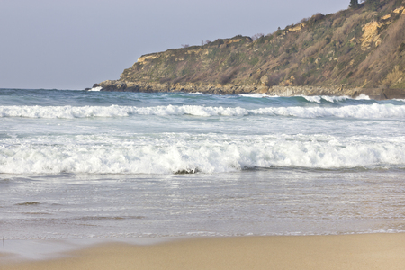 ocean and sea: Small waves at the beach