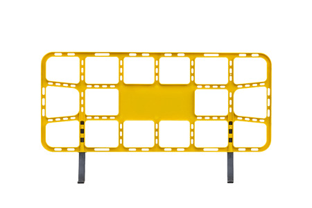 temporary: Yellow plastic temporary fence