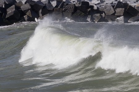 Small plunging breaker wave