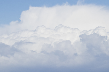 White cumulus clouds previous to storm formation.