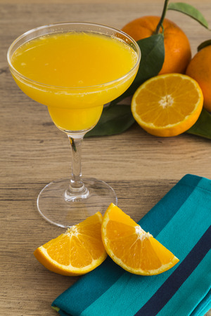 Orange juice in a margarita glass photo