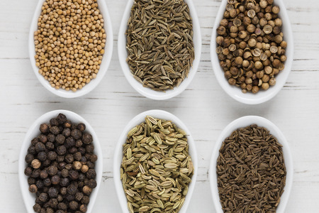 Whole seeds and spices photo
