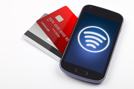 contactless: Contactless payment with mobile phone