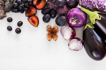 Purple fruit and veg