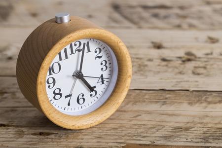 bedside: Bedside wooden alarm clock